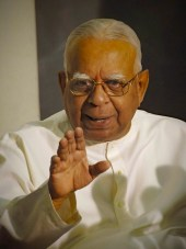 Sampanthan, leader of the political proxy of the Tamil Tigers, the Tamil National Alliance, addresses reporters during a media conference  in Colombo