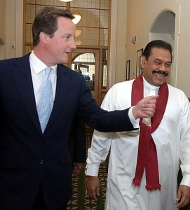 David Cameron and Mahinda Rajapaksa   File photo