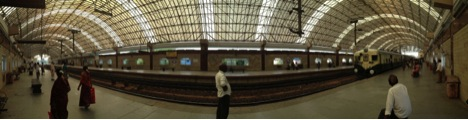 MRTS station at Mylapore in the centre of Chennai