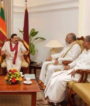 Wigneswaran, together with Sumanthiran met the President | Photo Nalin Hewapathirana