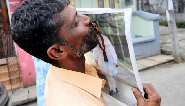 Mahinda Pic courtesy Namal's Facebook