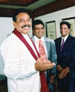 Lasntha with Ex-President Mahinda and Justice minister Wijeyadasa
