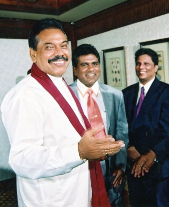 Lasntha with Mahinda and Wiyedasa