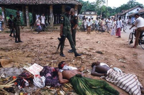 Extrajudicial Killings in Sri Lanka 1989 - File photo