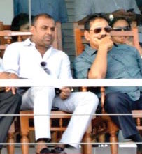 Asanga Seneviratne with Mahinda Rajapaksa