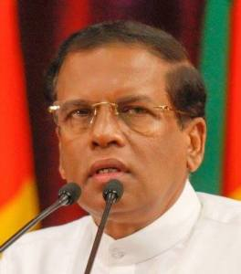 Sirisena - Minister of Defence
