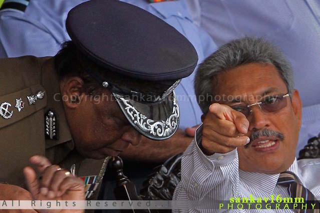 DIG Anura Senanayake with Gotabaya Rajapaksa