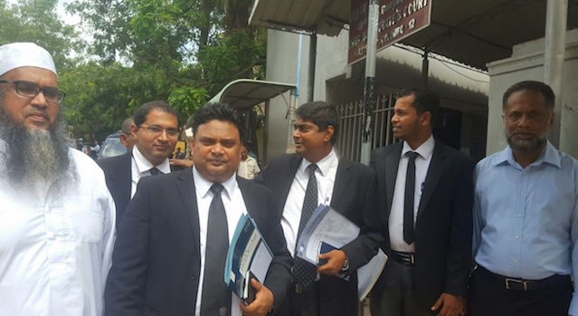 Attorney at Law Shiraz Noordeen and his team of  lawyers