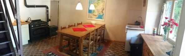 keuken vakantiehuis les hiboux