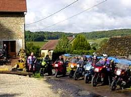 Motorarrangement Frankrijk bij La Tourelle, Colombotte