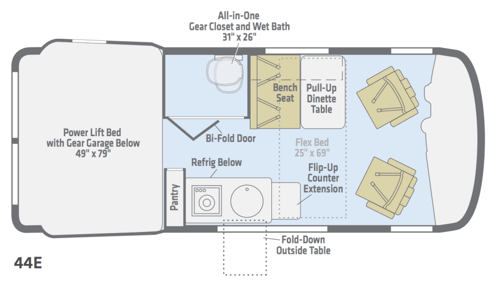Winnebago Revel floorplan