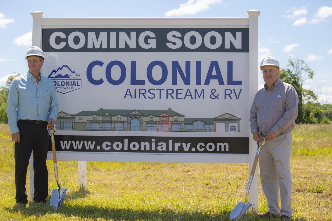 Colonial Airstream Ground breaking ceremony