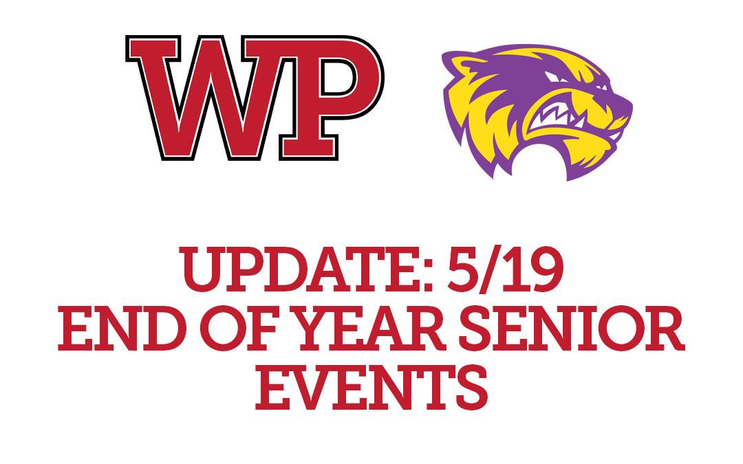 Senior Class Update 5/19/2020