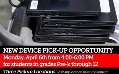 Yeni Cihaz Toplama Fırsatı: 6 Nisan Pazartesi, 4: 00-6: 00