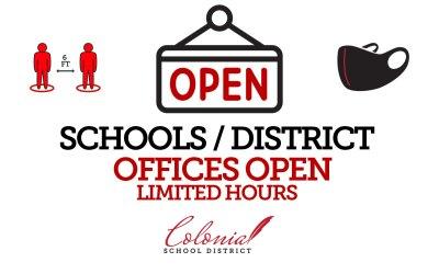 CSD Offices Open Beginning 9/2