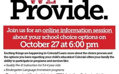 Noche de elección de escuela - 27 de octubre a las 6 pm