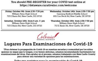 Sitios de prueba COVID-19