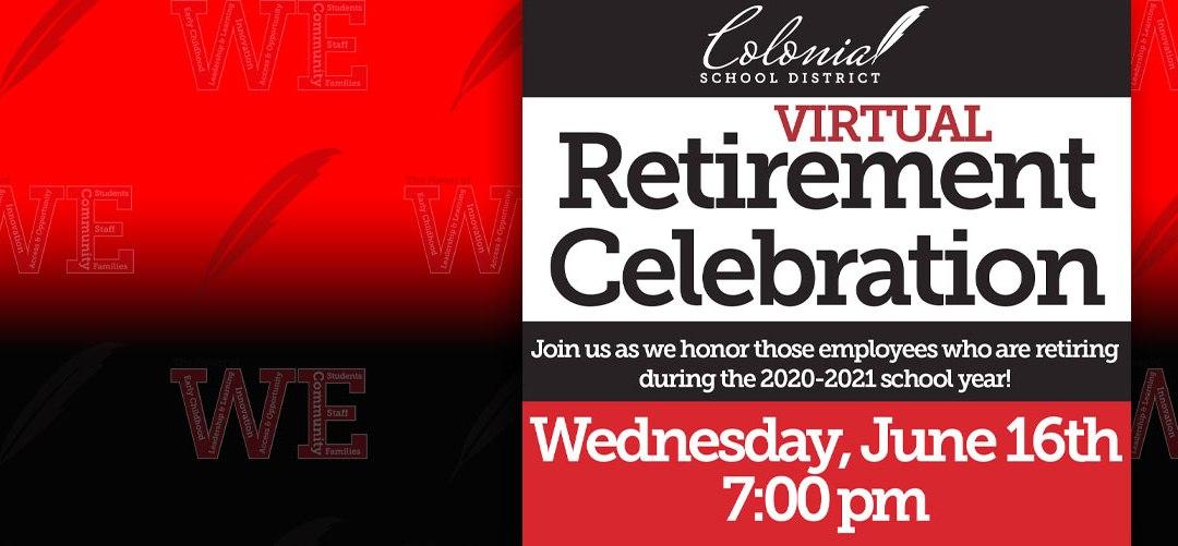 Celebración virtual de la jubilación 2021