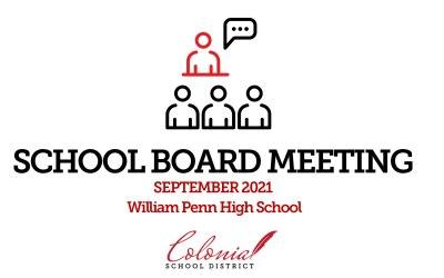 Actualización de las reuniones de la junta escolar