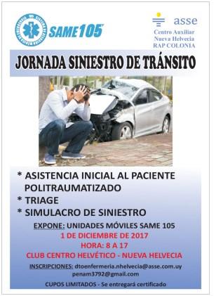 AFICHE JORNADA SINIESTRO DE TRANSITO
