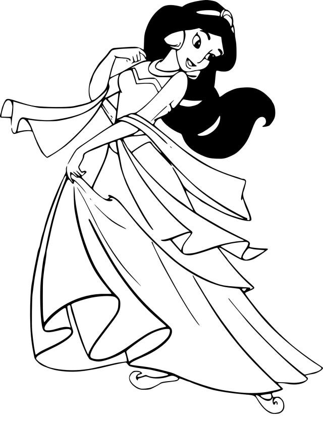 Coloriage Jasmine Princesse à imprimer