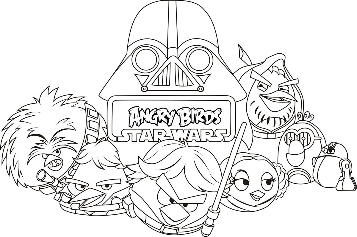 Coloriage Angry Birds Star Wars Gratuit A Imprimer