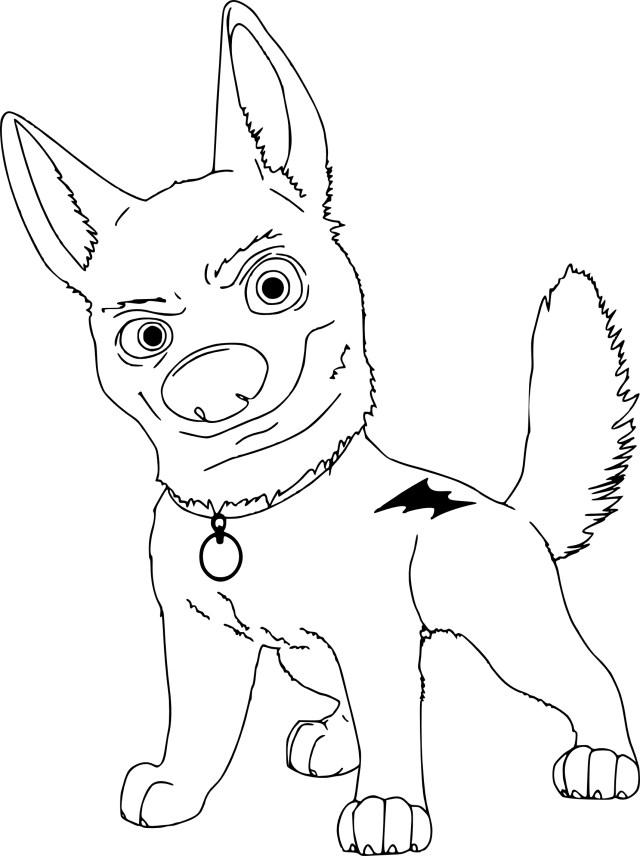 Coloriage Volt le chien à imprimer