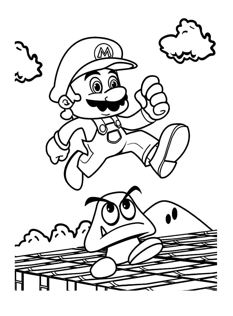 Coloriage Mario Jeu Imprimer