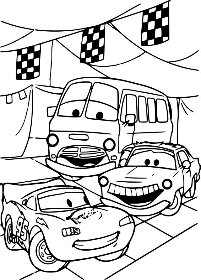 Cars : Coloriage Disney Cars à imprimer