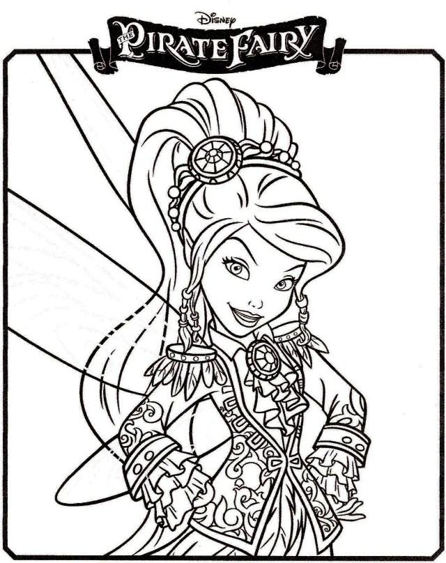 Coloriage fée pirate Vidia à imprimer