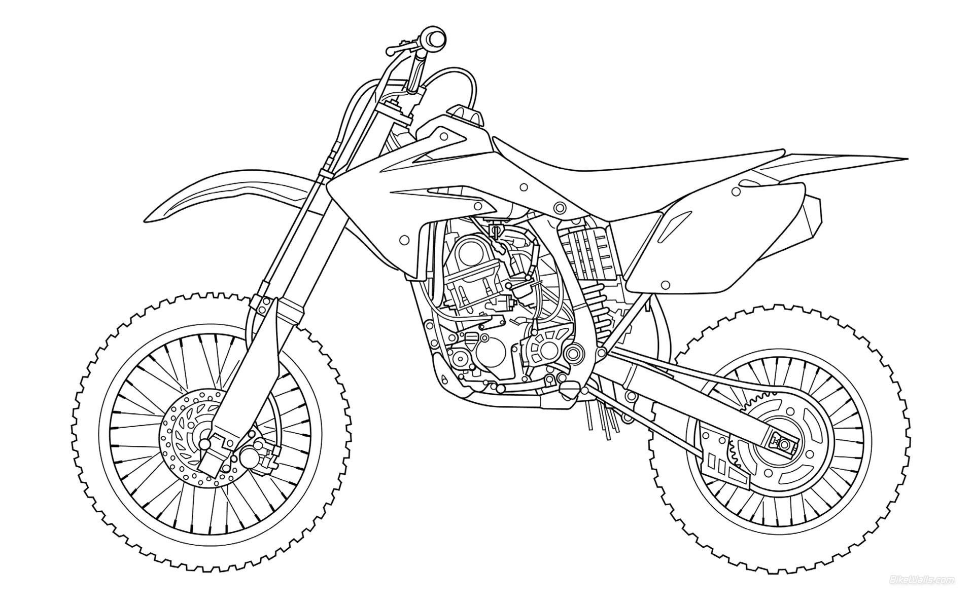 Coloriage Motocross Gratuit A Imprimer