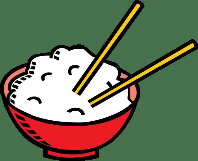 Coloriage bol de riz à imprimer