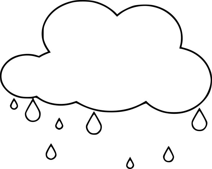 Coloriage la pluie