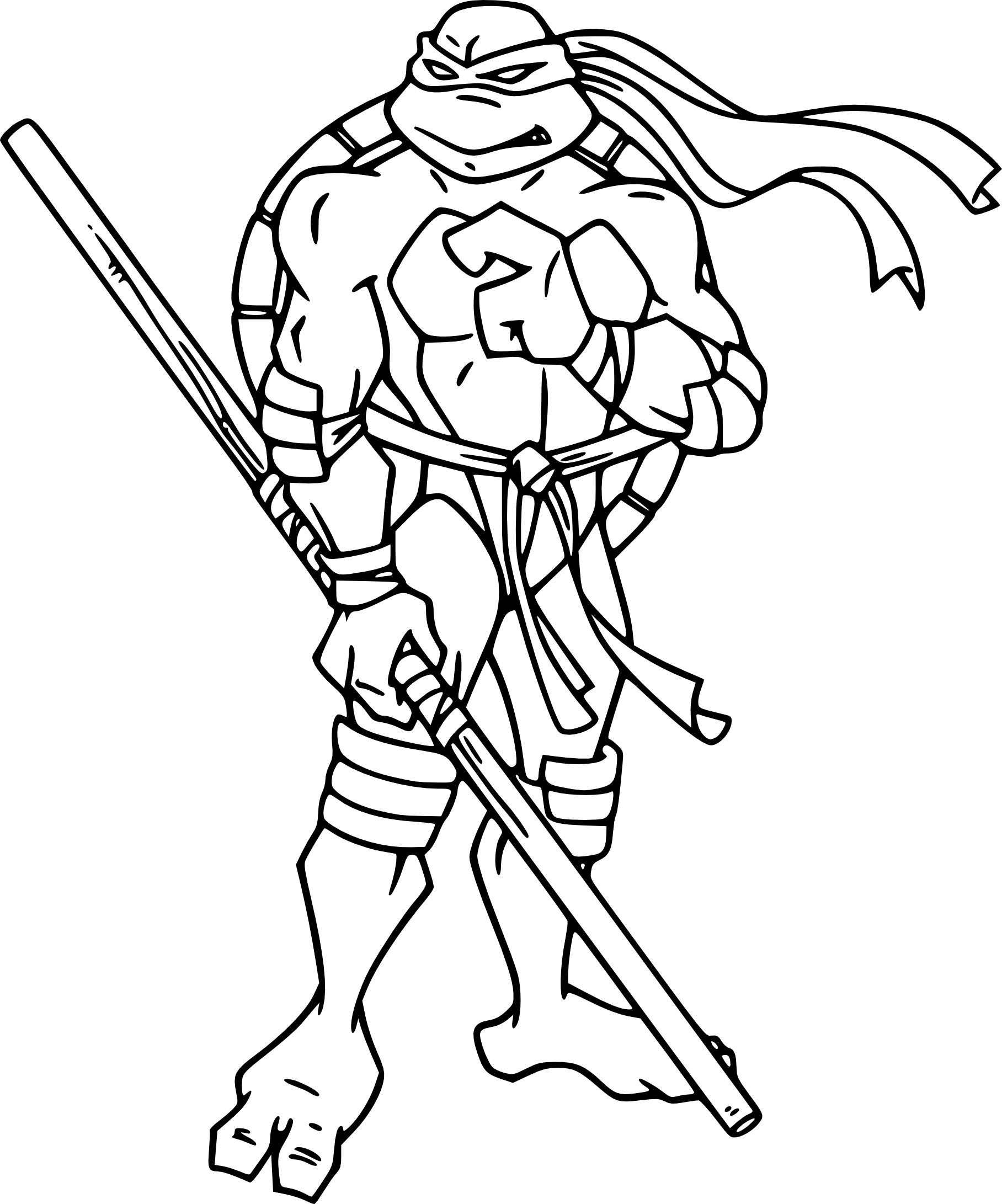 Coloriage Tortue Ninja Donatello Imprimer