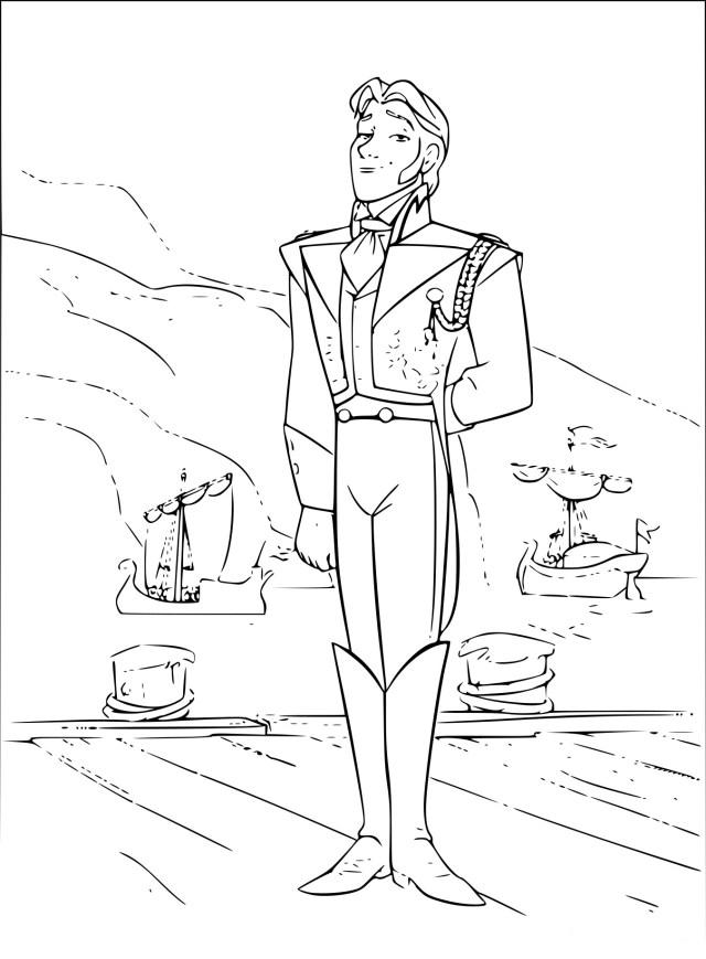 Coloriage Prince Hans à imprimer