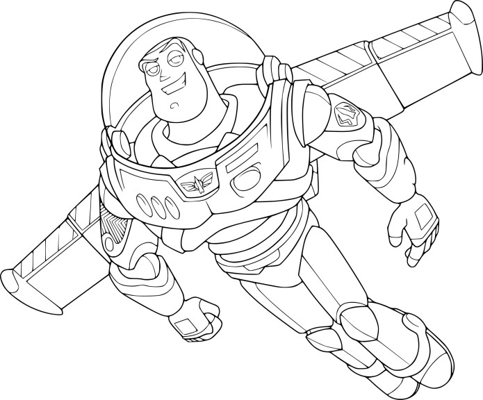 Coloriage Buzz Lclair Toy Story Imprimer