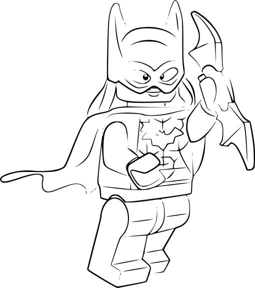 Coloriage Lego Batgirl Imprimer