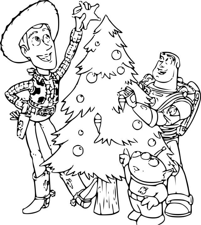 Coloriage Toy Story Noel à imprimer