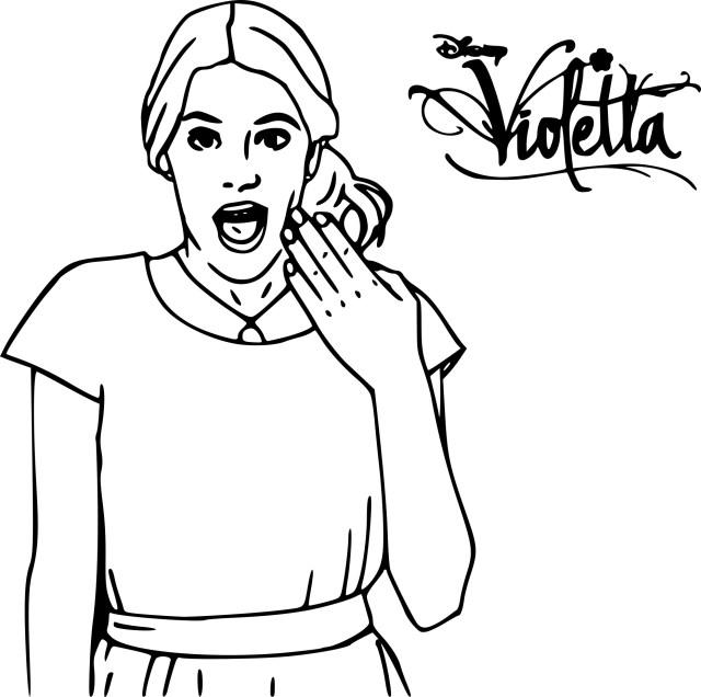 Coloriage Violetta et dessin à imprimer