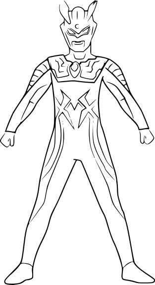 Coloriage Ultraman Zero Imprimer