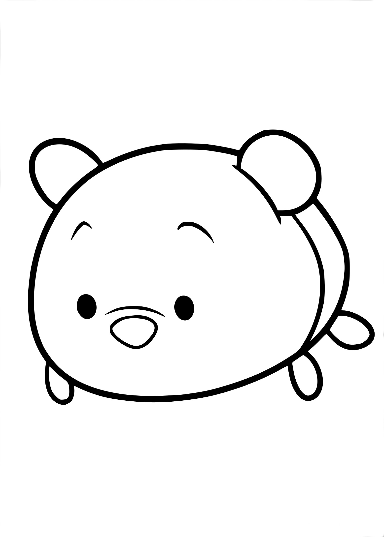 Coloriage Tsum Tsum Winnie A Imprimer