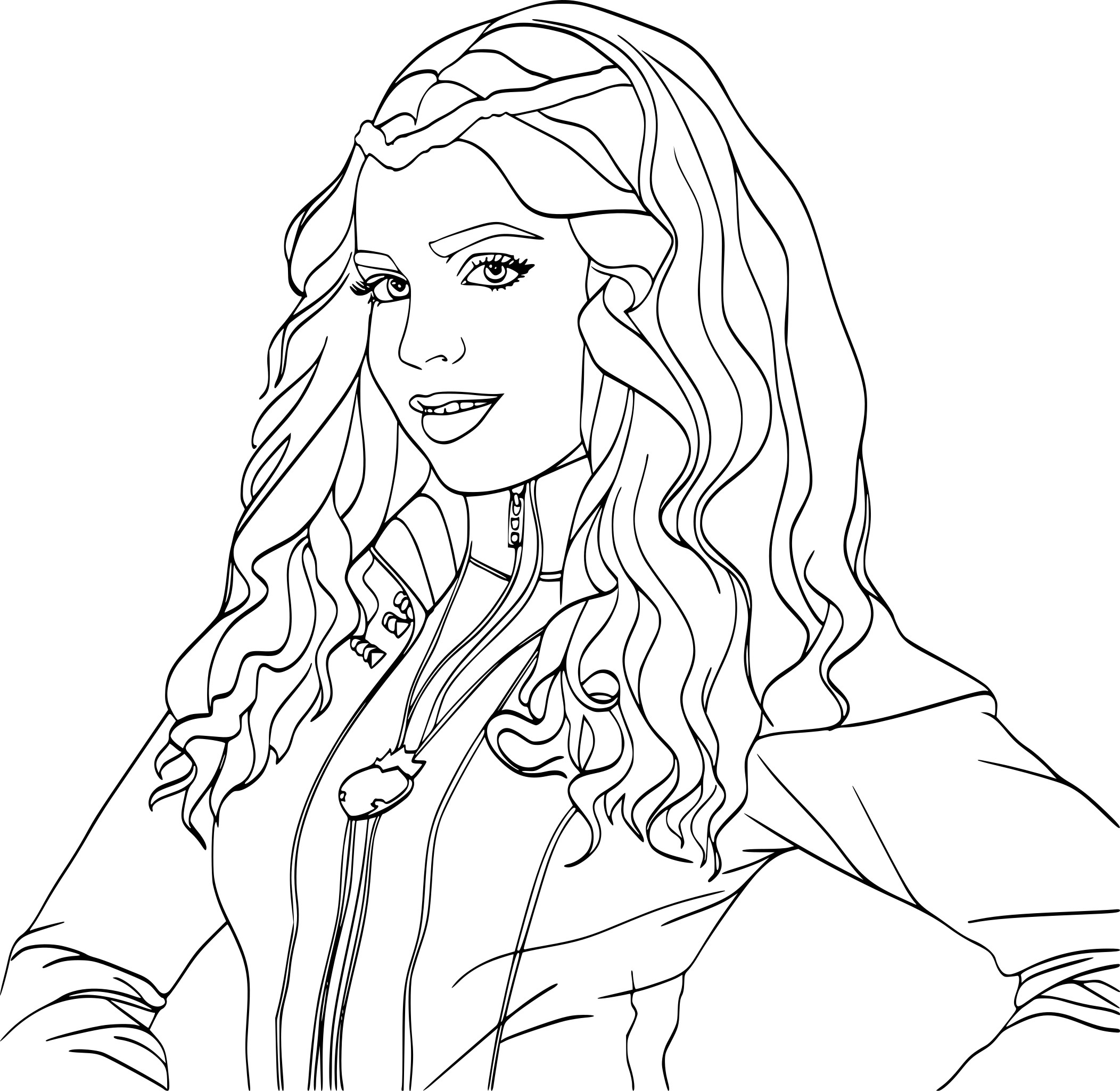 Coloriage Evie Descendants A Imprimer