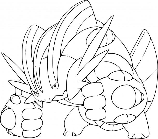 Coloriage Mga Laggron Pokemon Imprimer