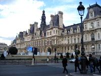 L'hôtel de ville à  Paris