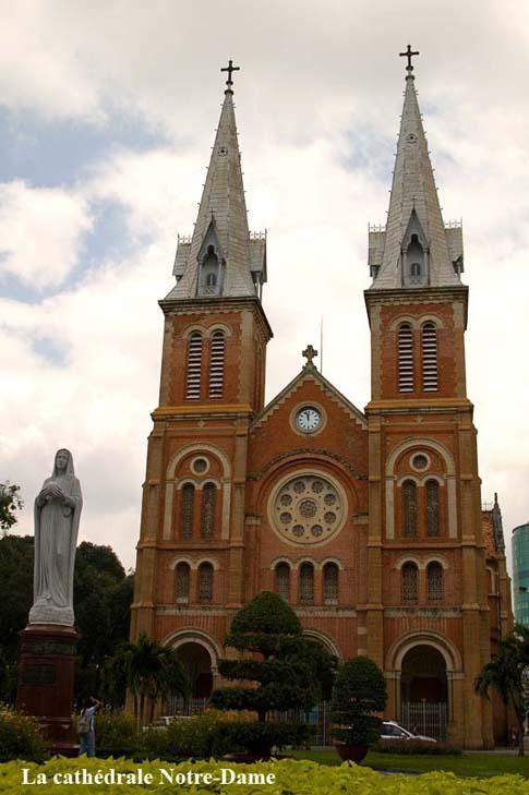 La cathédrale Notre-Dame, Ho Chi Minh, Vietnam