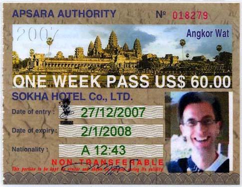 Pass for Angkor - Forfait pour Angkor