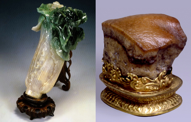 Jadeite Cabbage with Insects, Meat-shaped Stone