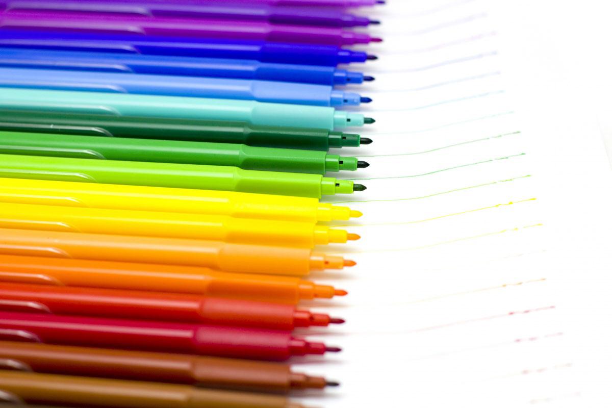 Colorare Con I Pennarelli
