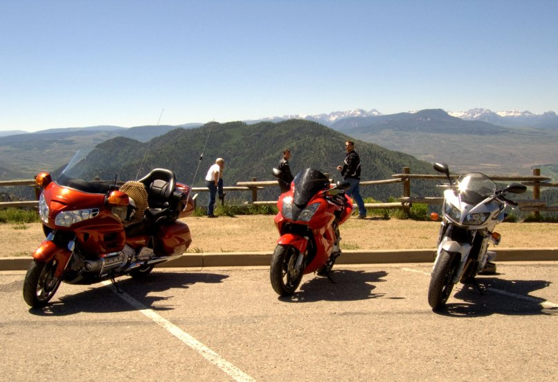 Colorado Motorcyclers Take A Break In Southwest S San Juan Mountains