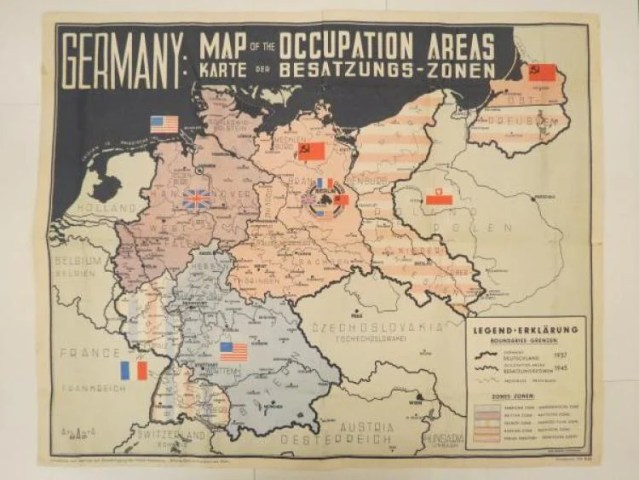 Germany  Map of the Occupation Areas  Karte der Besatzungs Zonen     Map of Occupation Areas